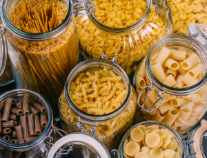 Bocaux de pâtes - Epicerie en vrac - Coopérative participative au Vully (FR)